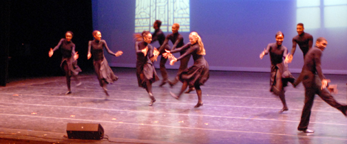 "Ensemble members from Dallas Black Dance Theatre II perform at the City of Irving Martin Luther King Jr. Observance on Sun., Jan. 19. This year's motif revolved around Dr. King's ministry, and the City conferred its 2014 Civil Rights Legacy Award on the National Park Service for ""Preserving the life and Legacy of Dr. Martin Luther King Jr. ."" Since Dr. King's assassination in 1968, the Park Service has established and curated a number of memorials commemorating the civil rights leader including constructing a statue in Washington, D.C., as well as managing his birthplace and the Ebenezer Baptist Church, where Dr. King preached, in Atlanta. Photo by Phil Cerroni."
