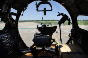 The B-17G Flying Fortress, known as the Aluminum Overcast, visited the Arlington Municipal Airport April 29. / Photos by Genesis Bishop