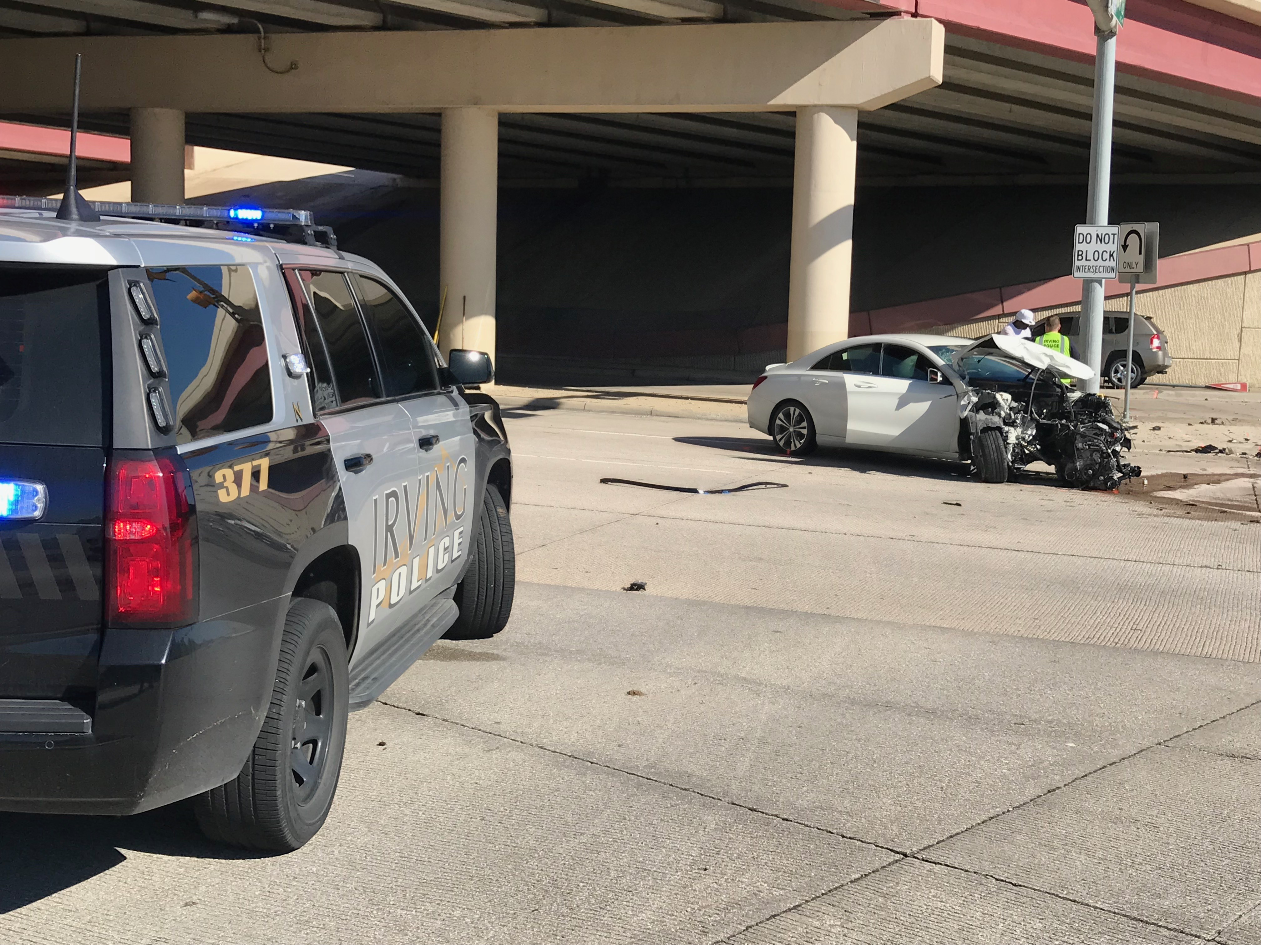 3-Car Accident on George Bush Turnpike and Highway 114 [PHOTOS