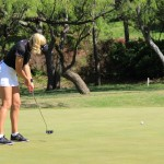 Natalie Gulbis putts on the 16th green during the 3rd round of the LPGA North Texas Shootout on Saturday, May 3 at Las Colinas Country Club. Gulbis shot an even-par 71 on Saturday to get within two strokes of the lead heading into Sunday's final round.