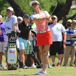 Michelle Wie hits her tee shot on the 15th hole during the final round of the North Texas LPGA Shootout on Sunday, May 5, at Las Colinas Country Club. Wie finished in 3rd place at -9 for the tournament.