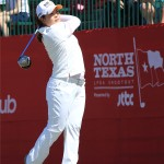 Defending tournament champion Inbee Park tees off on her final round of play at the North Texas LPGA Shootout on Sunday, May 5, at Las Colinas Country Club. Park finished in a tie for 15th place at -5.