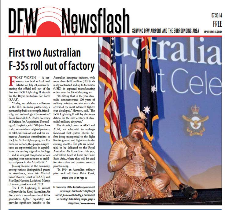 7/30/2014 Newsflash