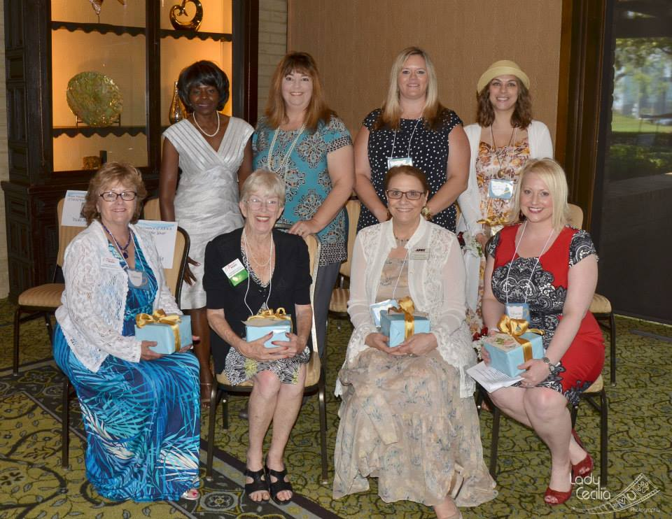 Eight Women of the Year and a Top Ten candidate were honored by the Dallas Area Council of the American Business Women's Association at an event at the Las Colinas Country Club on Aug. 9. They are, front row from left, Donna McCright of The Colony, Barbara Doyle of Irving, Ginger Groom Grant of The Colony, Stacey Whitmarsh of Plano; and back row from left, Beatrice Culley of DeSoto, Vicki Marlett of Irving, Kimberley Williams of Dallas, and Julia Fielder of Dallas, a Top Ten candidate.