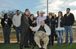 Flagpole dedication honors Dick Lear