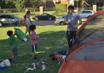 Families celebrate Dad with campout