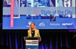 Van Duyne urges innovation, global access in State of the City Speech