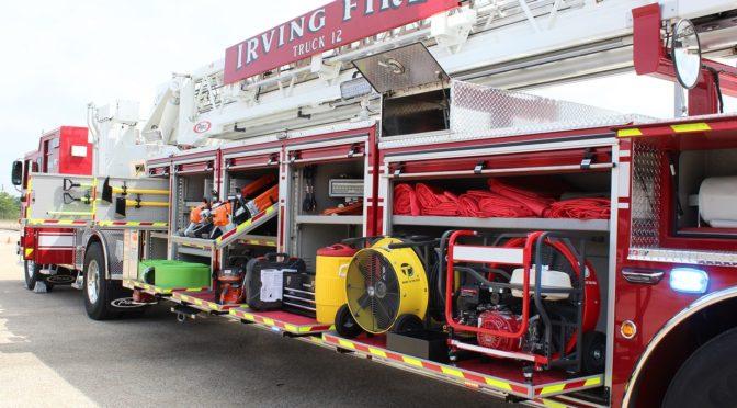 Tiller trucks latest advancement for Irving Fire Department